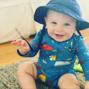 Hanna Andersson NWT baby swim hat